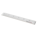 JE31 Ruler: Aluminium: Stainless Steel Edge: 30cm